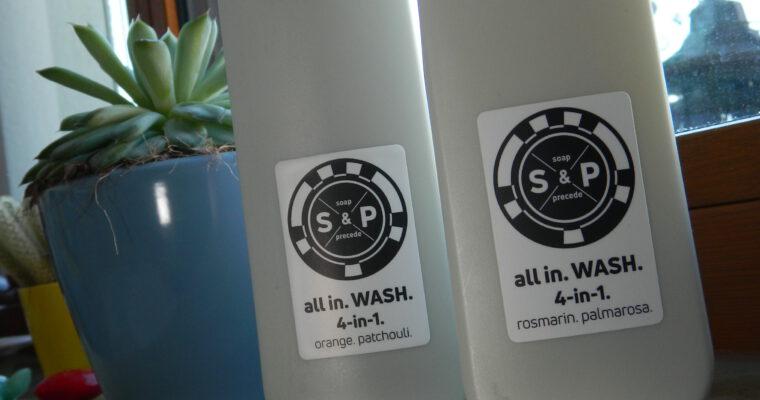 Nachhaltiges Duschgel als Pulver